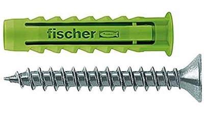 cheville à quadruple expansion Fischer SX Green 524866 4,5 x 40 mm