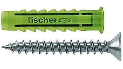 cheville à quadruple expansion Fischer SX Green 524867 8 x 40 mm avec vis boîte de 45