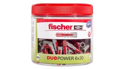 Cheville bi-matière FISCHER DUOPOWER 6x30 mm Round box
