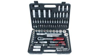 """KS Tools 917.0796, Jeu de 96 douilles et clés Torx 1/4"""" et 1/2"""""""