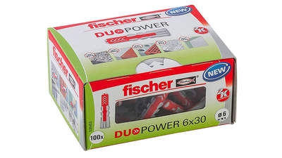 Fischer chevilles DUOPOWER 6 x 30 mm