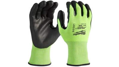 gants Milwaukee anti coupure niveau 3 haute visibilité 4932471934 taille 11