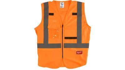 gilet haute visibilité Milwaukee 4932471892 Orange S/M