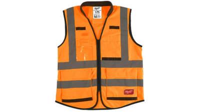 gilet haute visibilité Milwaukee 4932471900 Premium Orange 2XL/3XL