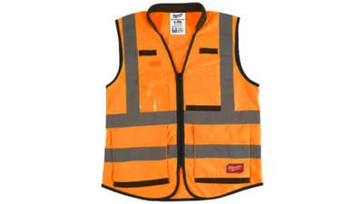 gilet haute visibilité Milwaukee 4932471899 Premium Orange L/XL