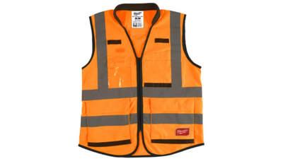 gilet haute visibilité Milwaukee 4932471898 Premium Orange S/M
