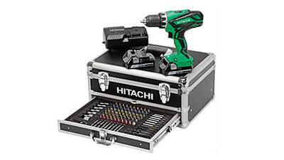 HITACHI Perceuse Visseuse 18V 2,5Ah + 100 accessoires - KC18DJLF pas cher