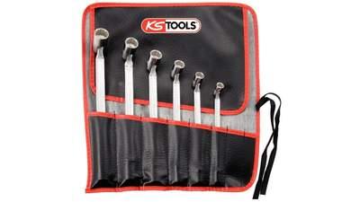 Jeu de 6 clés à douilles articulées 12 pans KS Tools 517.0310