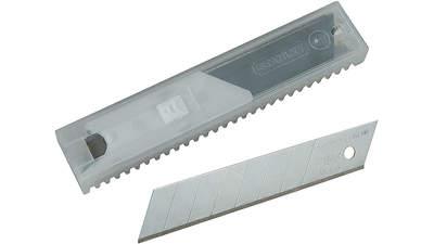 Lame de cutter Stanley 2-11-718 sécable en 8 segments pack de 10 lames 18 mm