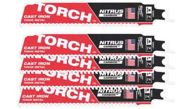lames de scie sabre Milwaukee TORCH NITRUS TCT 150 48005561 5 pièces