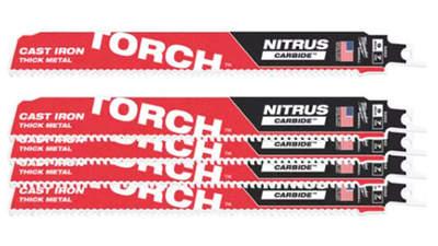 lames de scie sabre Milwaukee TORCH NITRUS TCT 230 48005562 5 pièces