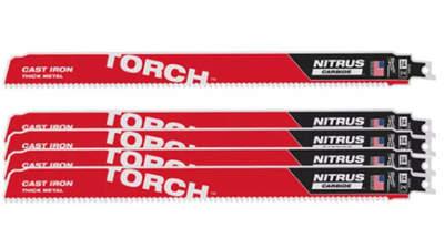 lames de scie sabre Milwaukee TORCH NITRUS TCT 300 48005563 5 pièces