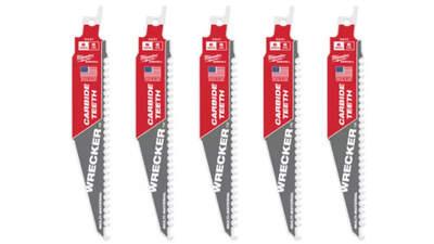 lames de scie sabre Milwaukee WRECKER TCT 150 48005541 5 pièces