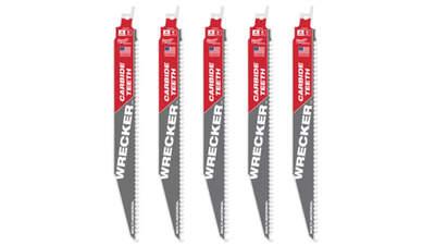 lames de scie sabre Milwaukee WRECKER TCT 230 48005542 5 pièces