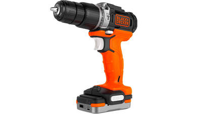 Perceuse à percussion sans fil BDCHD12S1-QW Black+Decker