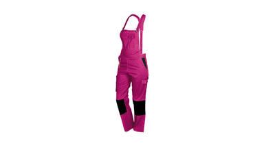 Salopette de travail rose et noir de Fashion Sécurité