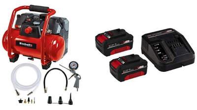 compresseur sans fil Einhell 4020450 TE-AC 36/6/8 Li OF Set-2 batteries