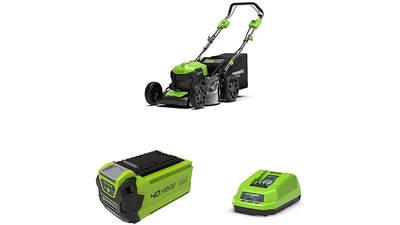 tondeuse à gazon sur batterie GD40LM46SPK2 2506807UB avec batterie 2è génération et chargeur Greenworks