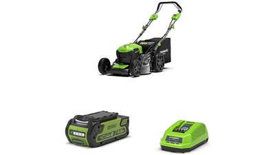 tondeuse à gazon sur batterie GD40LM46SP 2506807 avec batterie et chargeur Greenworks