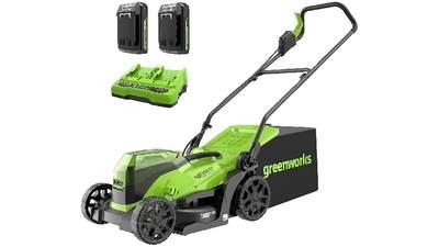Tondeuse à gazon à batterie Greenworks GD24X2LM36K2x