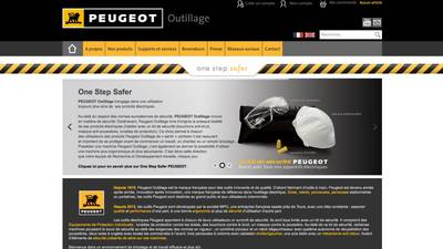 Site internet Peugeot Outillage