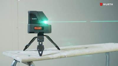 WÜRTH CLG 18 : un laser croix faisceau vert pour une meilleure visibilité