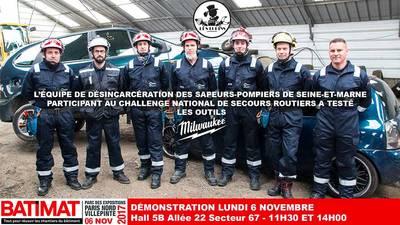 Démonstration désincarcération par les sapeurs-pompiers du 77