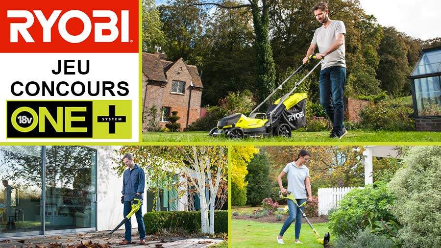Outils jardin RYOBI ONE+ à gagner !