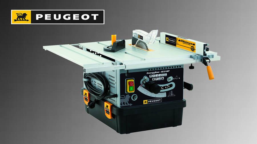 Nouvelle scie sur table Peugeot Outillage ENERGYSAW-165ASP avec aspiration intégrée