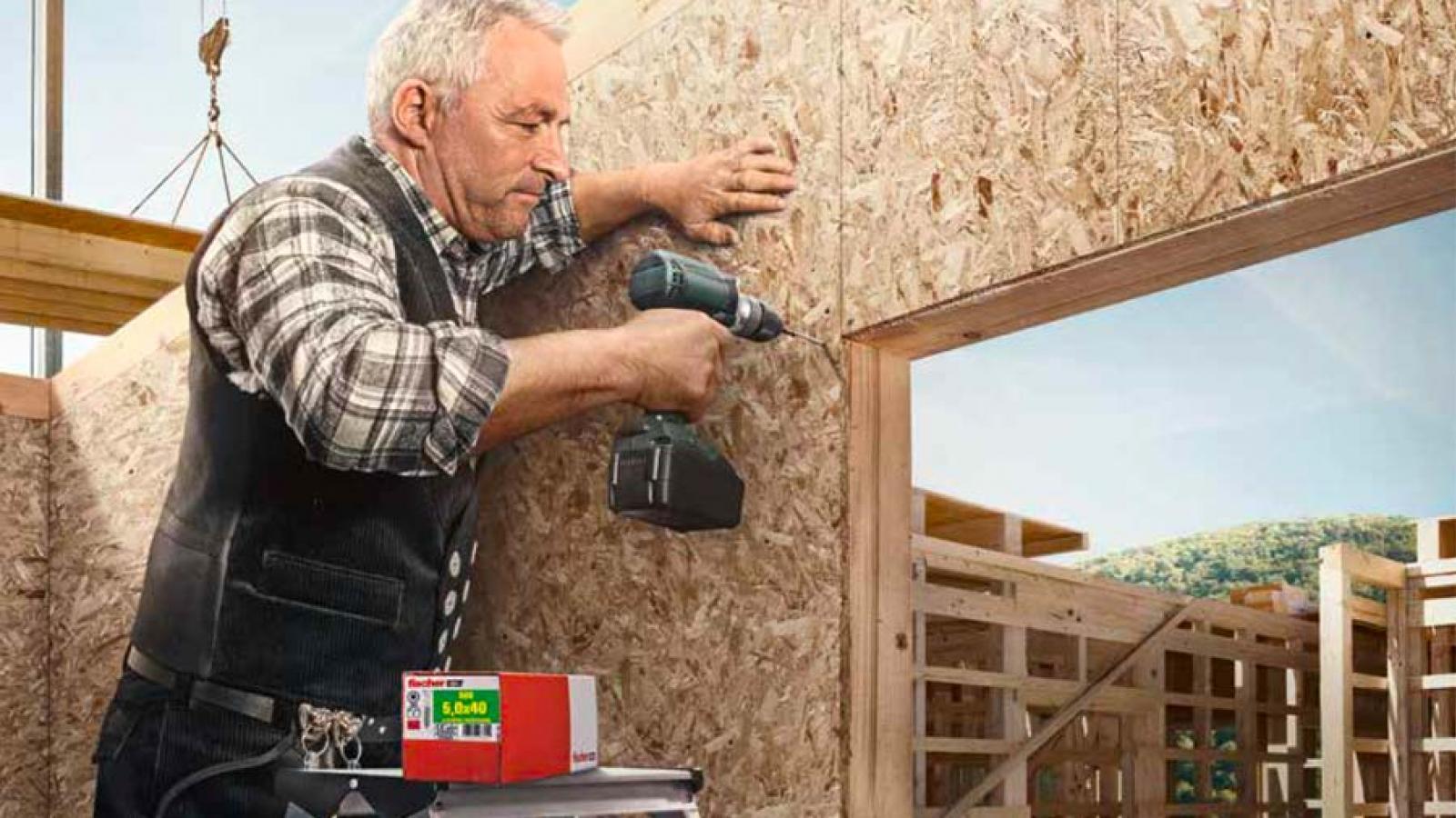 Vis Ficher dédiées à la construction des ossaturse bois