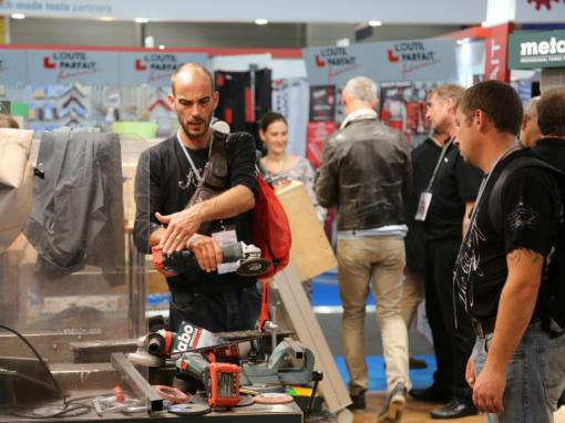 Stand Metabo au salon Batimat 2015 © Benjamin LEHARIVEL - Zone Outillage