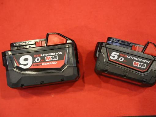 Batteries 5,0 Ah - 9,0 Ah 18 V Milwaukee © Benjamin LEHARIVEL - Zone Outillage