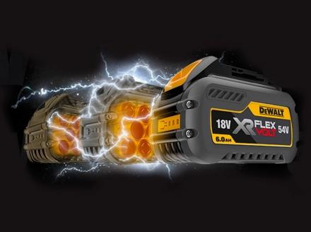 Outils et batterie 54 V XR FLEXVOLT DEWALT