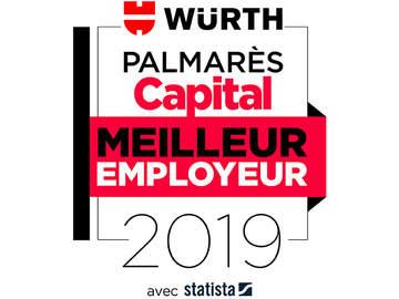 Palmares capital Würth Meilleur employeur 2019