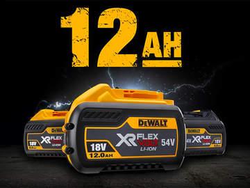DEWALT présente sa première batterie XR FLEXVOLT 18/54V de 12.0 Ah