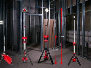 Milwaukee étoffe sa gamme de projecteurs de chantier sur trépied sans fil