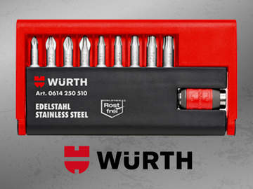 Würth présente son nouvel assortiment d'embouts et porte-embouts inox