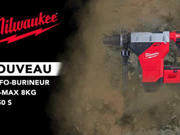 K850S : le perforateur-burineur SDS-MAX filaire Milwaukee le plus rapide de sa catégorie