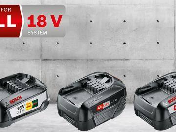 Nouvelle gamme de batteries haute capacité 18 V Bosch Power for All