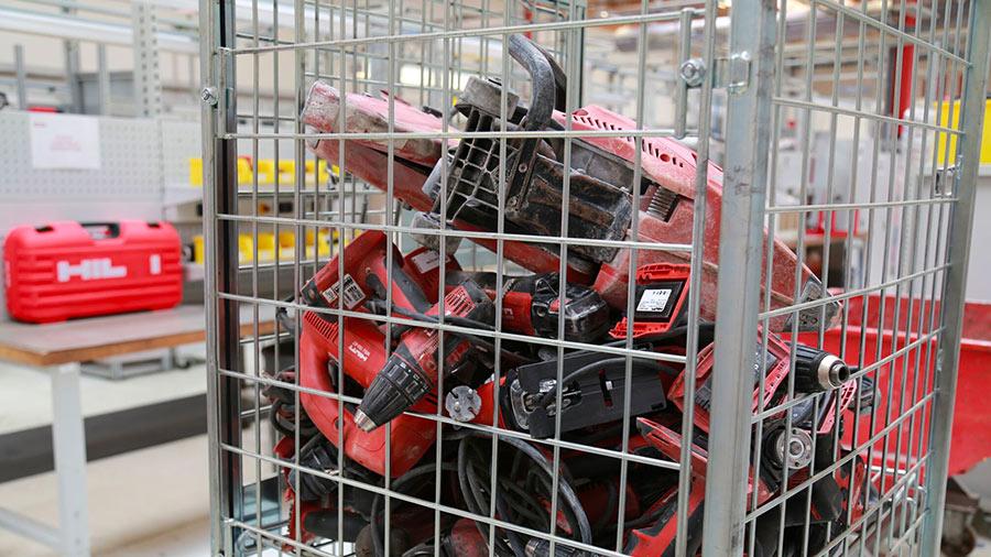Découverte des coulisses du SAV HILTI France de Bois-d'Arcy : recyclage