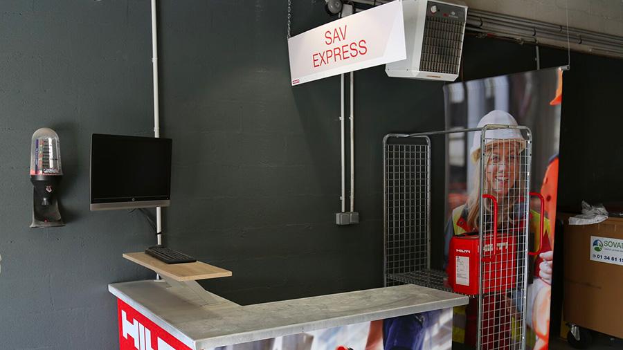 Découverte des coulisses du SAV HILTI France de Bois-d'Arcy : le SAV Express