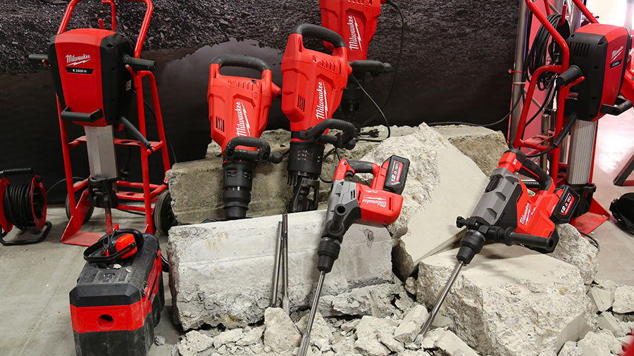 Nouveaux perforateurs burineurs et marteaux démolisseurs Milwaukee