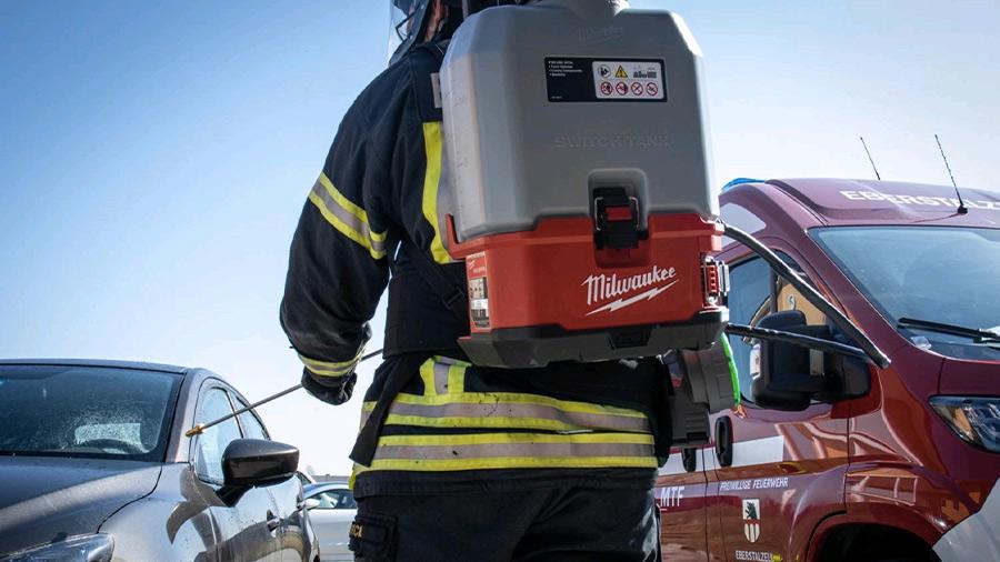 Milwaukee accompagne les professionnels dans la lutte contre le COVID-19 grâce à son pulvérisateur sac à dos M18 SWITCH TANK