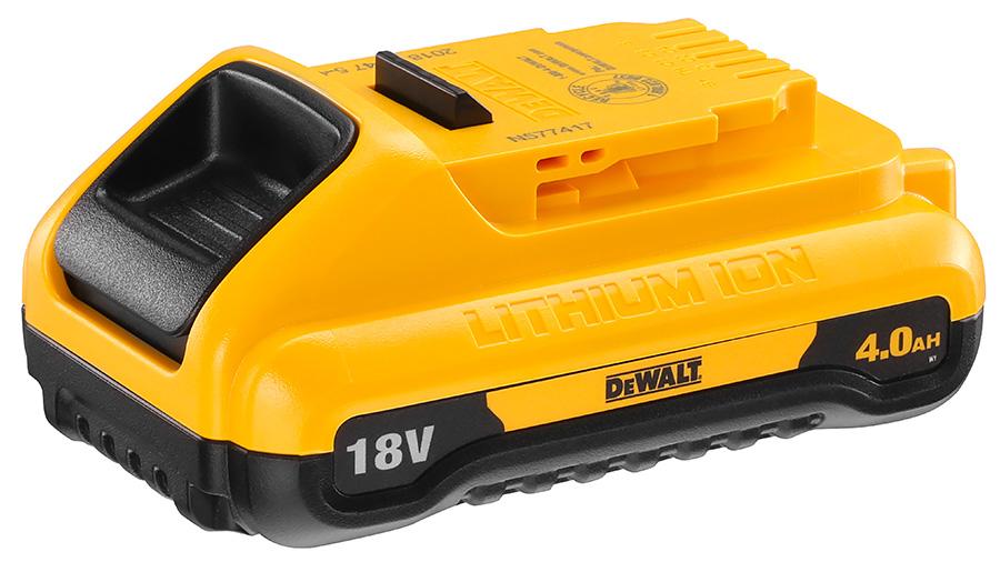 Nouvelle batterie compacte haute capacité XR 18V 4,0 Ah DEWALT