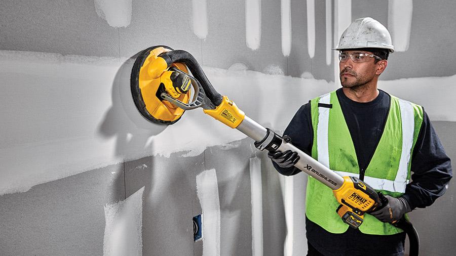 DEWALT dévoile la ponceuse à bras sans fil DCE800T2 XR 18V pour les plaquistes