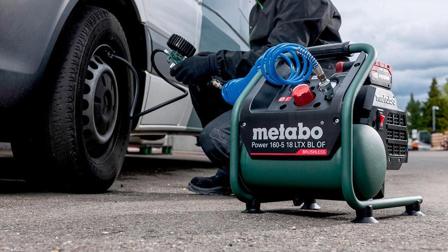 Test et avis du compresseur sans-fil Power 160-5 18 LTX BL OF Metabo