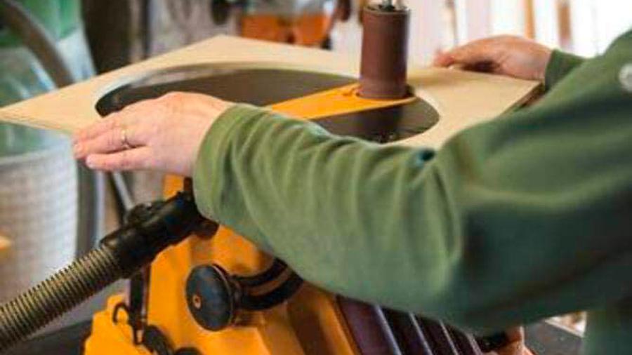 Ponceuse à bande et à cylindre oscillant TSPST450 Triton