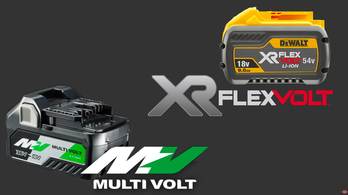 MultiVolt Hitachi Vs XR FLEXVOLT DEWALT