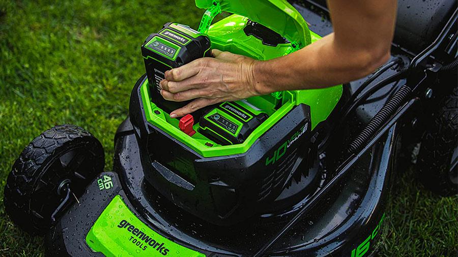 tondeuse sur batterie GREENWORKS Gd40lm46sp