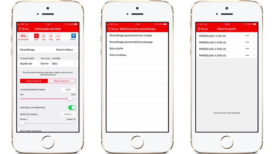Parametrage application Toolbox Bosch vs ONEKEY Milwaukee